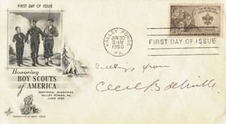 CECIL B. DEMILLE - FIRST DAY COVER WITH AUTOGRAPH SENTIMENT SIGNED