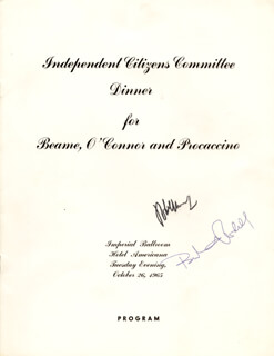 Autographs: ROBERT F. KENNEDY - PROGRAM SIGNED CIRCA 1965 CO-SIGNED BY: BERTRAM L. PODELL