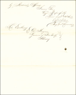 MAJOR GENERAL DANIEL E. SICKLES - AUTOGRAPH LETTER SIGNED 12/26/1862