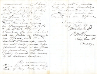 MAJOR GENERAL HENRY W. SLOCUM - AUTOGRAPH LETTER SIGNED 02/22/1863