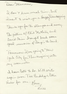 PRESIDENT WILLIAM J. BILL CLINTON - AUTOGRAPH LETTER SIGNED CIRCA 1964