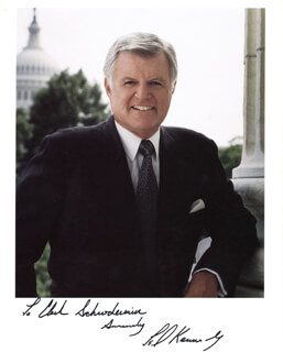 EDWARD TED KENNEDY - AUTOGRAPHED INSCRIBED PHOTOGRAPH