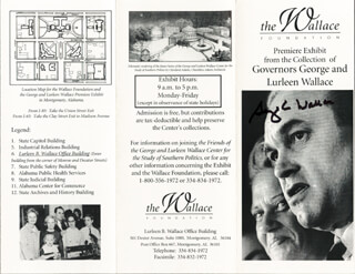 Autographs: GEORGE C. WALLACE - PAMPHLET SIGNED
