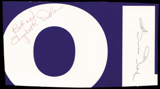 ROBERT J. BOB DOLE - AUTOGRAPH CO-SIGNED BY: ELIZABETH H. DOLE