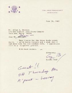 PRESIDENT GEORGE H.W. BUSH - TYPED LETTER SIGNED 06/28/1982
