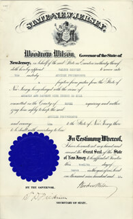 PRESIDENT WOODROW WILSON - DOCUMENT SIGNED 03/12/1912
