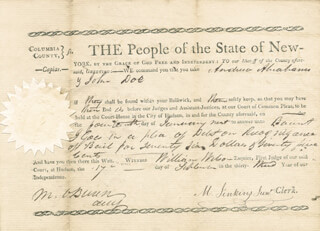PRESIDENT MARTIN VAN BUREN - AUTOGRAPH DOCUMENT SIGNED 09/17/1809