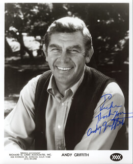 ANDY GRIFFITH - AUTOGRAPHED INSCRIBED PHOTOGRAPH