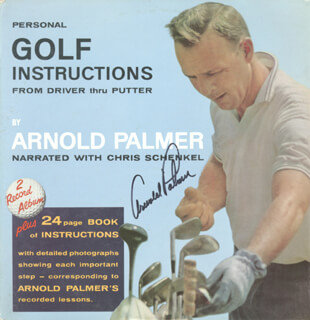 ARNOLD PALMER - RECORD ALBUM COVER SIGNED