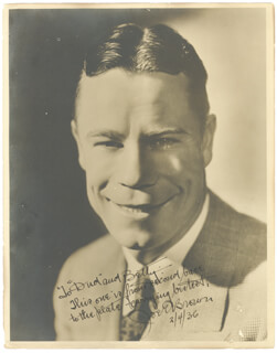 JOE E. BROWN - AUTOGRAPHED SIGNED PHOTOGRAPH 02/04/1936