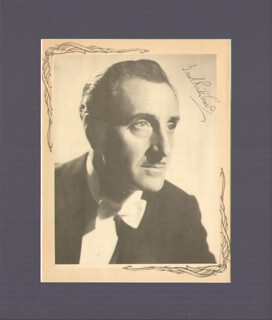 BASIL RATHBONE - MAGAZINE PHOTOGRAPH SIGNED