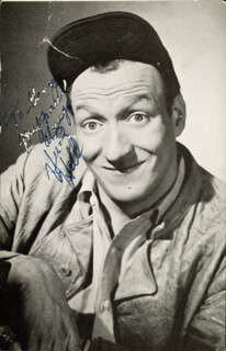 HUNTZ HALL - INSCRIBED PICTURE POSTCARD SIGNED