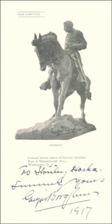GUTZON BORGLUM - INSCRIBED PAMPHLET SIGNED 1917