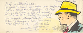 CHESTER GOULD - AUTOGRAPH LETTER SIGNED 12/14/1974