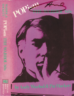 ANDY WARHOL - BOOK COVER SIGNED
