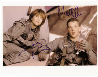 COURAGE UNDER FIRE MOVIE CAST - AUTOGRAPHED SIGNED PHOTOGRAPH CO-SIGNED BY: MATT DAMON, MEG RYAN