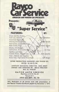 SAMMY DAVIS JR. - PROGRAM SIGNED CIRCA 1974