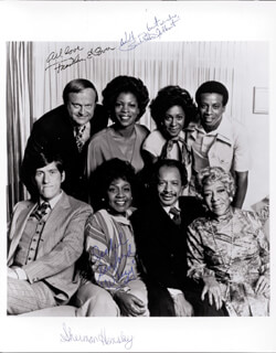 THE JEFFERSONS TV CAST - AUTOGRAPHED SIGNED PHOTOGRAPH CO-SIGNED BY: SHERMAN HEMSLEY, ISABEL WEEZY SANFORD, FRANKLIN COVER, BERLINDA TOLBERT