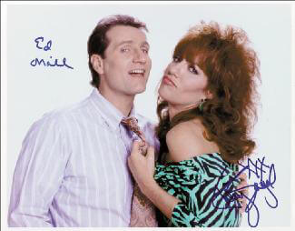 MARRIED WITH CHILDREN TV CAST - AUTOGRAPHED SIGNED PHOTOGRAPH CO-SIGNED BY: KATEY SAGAL, ED O'NEILL