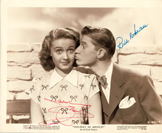 HOLIDAY IN MEXICO MOVIE CAST - AUTOGRAPHED SIGNED PHOTOGRAPH CO-SIGNED BY: RODDY McDOWALL, JANE POWELL