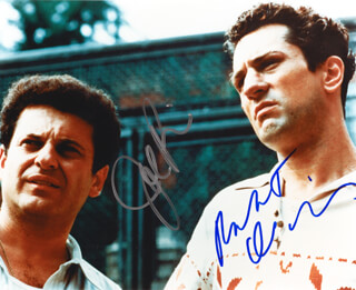 RAGING BULL MOVIE CAST - AUTOGRAPHED SIGNED PHOTOGRAPH CO-SIGNED BY: JOE PESCI, ROBERT DENIRO