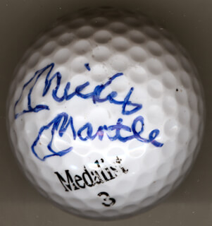 MICKEY MANTLE - GOLF BALL SIGNED