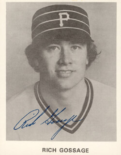 RICH GOOSE GOSSAGE - PRINTED PHOTOGRAPH SIGNED IN INK