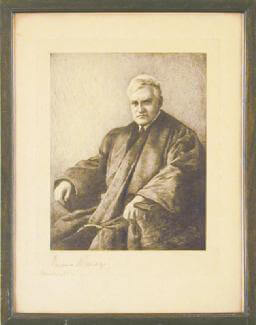 Autographs: ASSOCIATE JUSTICE BENJAMIN N. CARDOZO - ILLUSTRATION SIGNED 12/1932
