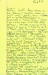 KATHARINE HEPBURN - AUTOGRAPH LETTER UNSIGNED 09/08