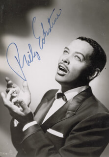 BILLY ECKSTINE - AUTOGRAPHED SIGNED PHOTOGRAPH