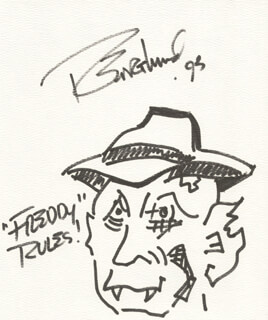 ROBERT ENGLUND - SELF-CARICATURE SIGNED 1993