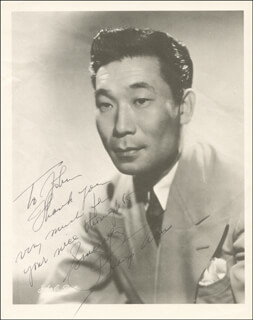 Autographs: PHILIP AHN - INSCRIBED PHOTOGRAPH SIGNED
