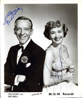 FRED ASTAIRE - AUTOGRAPHED SIGNED PHOTOGRAPH CO-SIGNED BY: JANE POWELL