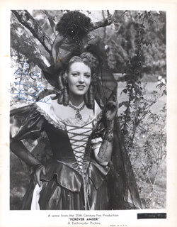 LINDA DARNELL - AUTOGRAPHED INSCRIBED PHOTOGRAPH