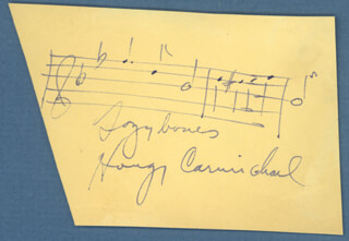 HOAGY CARMICHAEL - AUTOGRAPH MUSICAL QUOTATION SIGNED CO-SIGNED BY: DOROTHY LAMOUR