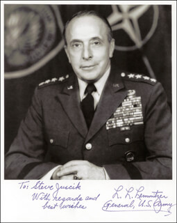 GENERAL LYMAN L. LEMNITZER - AUTOGRAPHED INSCRIBED PHOTOGRAPH
