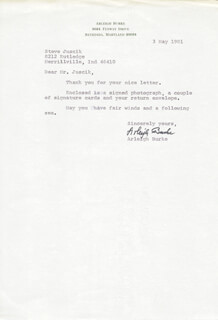 Autographs: ADMIRAL ARLEIGH A. BURKE - TYPED LETTER SIGNED 05/03/1981