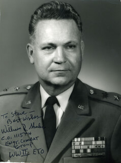 GENERAL WILLIAM R. SHULER - AUTOGRAPHED SIGNED PHOTOGRAPH