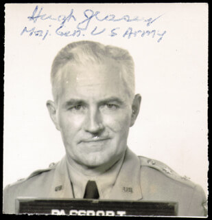 MAJOR GENERAL HUGH J. CASEY - AUTOGRAPHED SIGNED PHOTOGRAPH