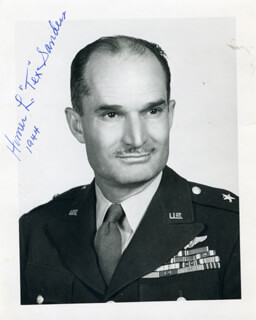 MAJOR GENERAL HOMER L. TEX SANDERS - AUTOGRAPHED SIGNED PHOTOGRAPH 1944