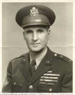 MAJOR GENERAL FREDERICK A. IRVING - AUTOGRAPHED SIGNED PHOTOGRAPH