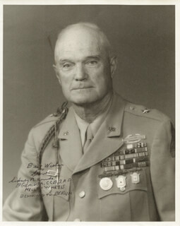 BRIGADIER GENERAL SIDNEY R. HINDS - AUTOGRAPHED SIGNED PHOTOGRAPH