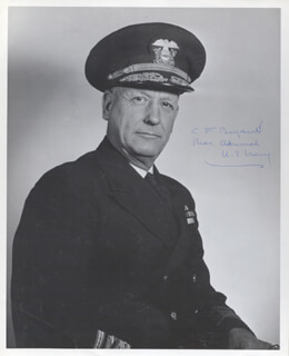 Autographs: REAR ADMIRAL CARLETON F. BRYANT - PHOTOGRAPH SIGNED