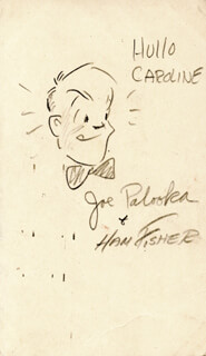 Autographs: HAM FISHER - INSCRIBED ORIGINAL ART SIGNED
