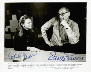 ARTHUR MILLER - AUTOGRAPHED SIGNED PHOTOGRAPH CO-SIGNED BY: ESTELLE PARSONS