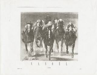 Autographs: STEVE CAUTHEN - PHOTOCOPY SIGNED IN INK
