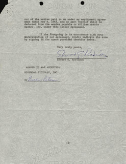 EDWARD G. ROBINSON - CONTRACT SIGNED 05/04/1967