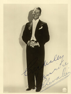 MAURICE CHEVALIER - AUTOGRAPHED SIGNED PHOTOGRAPH
