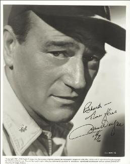 JOHN DUKE WAYNE - AUTOGRAPHED INSCRIBED PHOTOGRAPH 1976