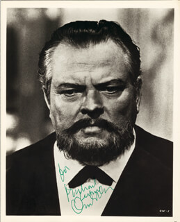ORSON WELLES - AUTOGRAPHED INSCRIBED PHOTOGRAPH